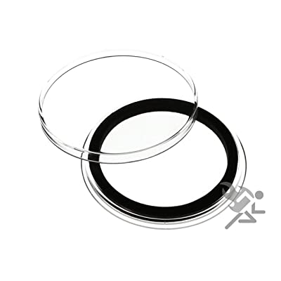 "25 Air-Tite ""I"" Black Ring Coin Holders for 40mm Coins: Toys & Games"