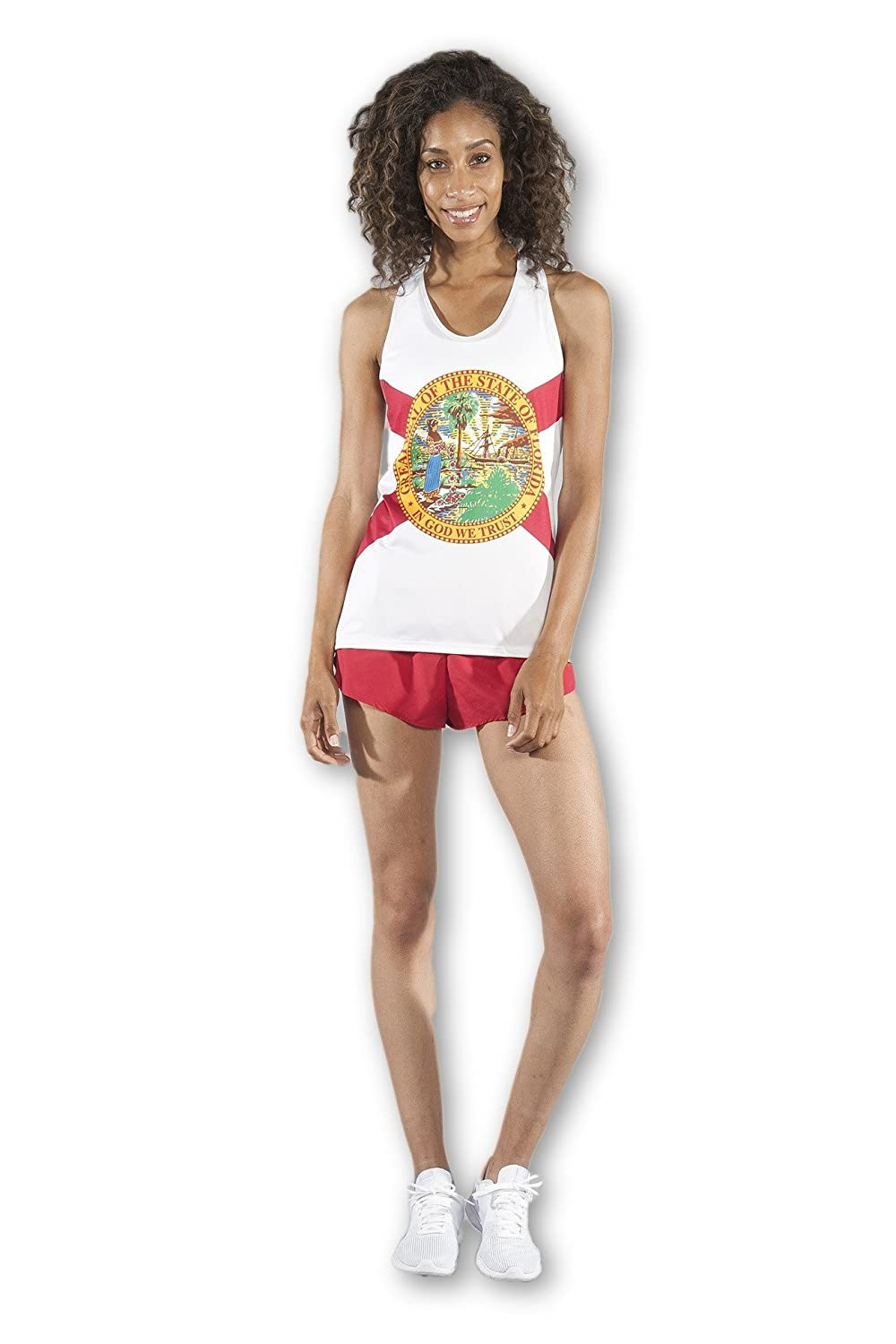 2045CP Boa Womens Country and State Flags Interval Singlet