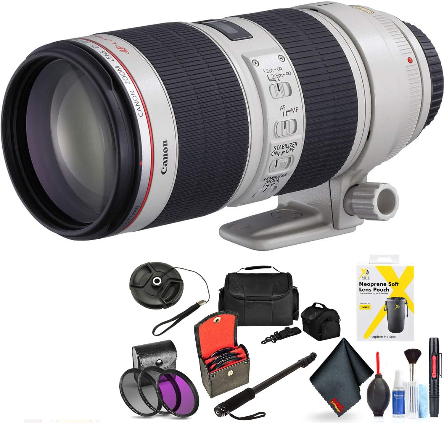 Canon EF 70-200mm F/2.8L is Ii USM Lens for Canon 6D, 5D Mark IV, 5D Mark III, 5D Mark II, 6D Mark II, 5Dsr, 5Ds, 1Dx, 1