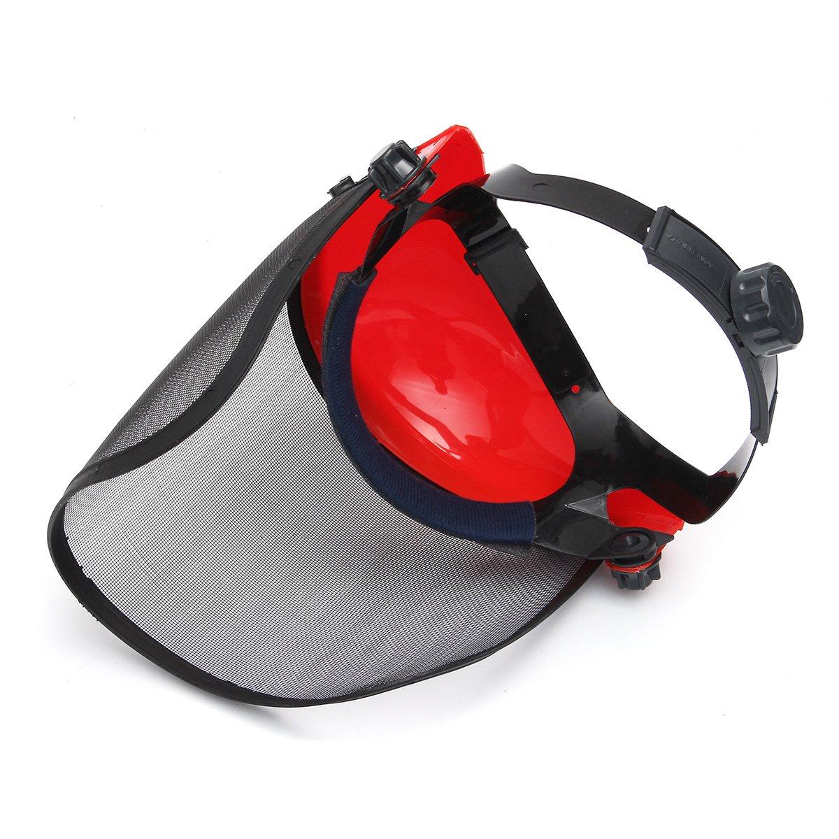 HELEISH Durchsichtiges Mesh Vollvisier Flip Up Face Shield Bildschirm Sicherheitsmaske Augenschutzhelm Rot Zubeh/örwerkzeug