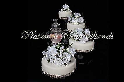 Amazon Com 4 Tier Cascade Wedding Cake Stand With Fountain Style