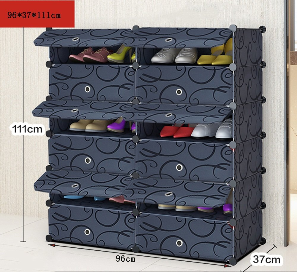 ALUS- Multi - Store Shelves Dust-proof Shoe Cabinet,Combination Of Large-capacity Multifunction Shoe Storage Rack,Household Resin Plastic Shoe Cabinet ( Size : 9637111cm )
