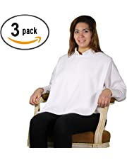 Terry Cloth Adult Bib with hook and loop Closure - 3 Pack (White)