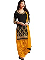 Shiroya Brothers Women's Cotton Salwar Suit (SB_DM_98_BlackFree Size)