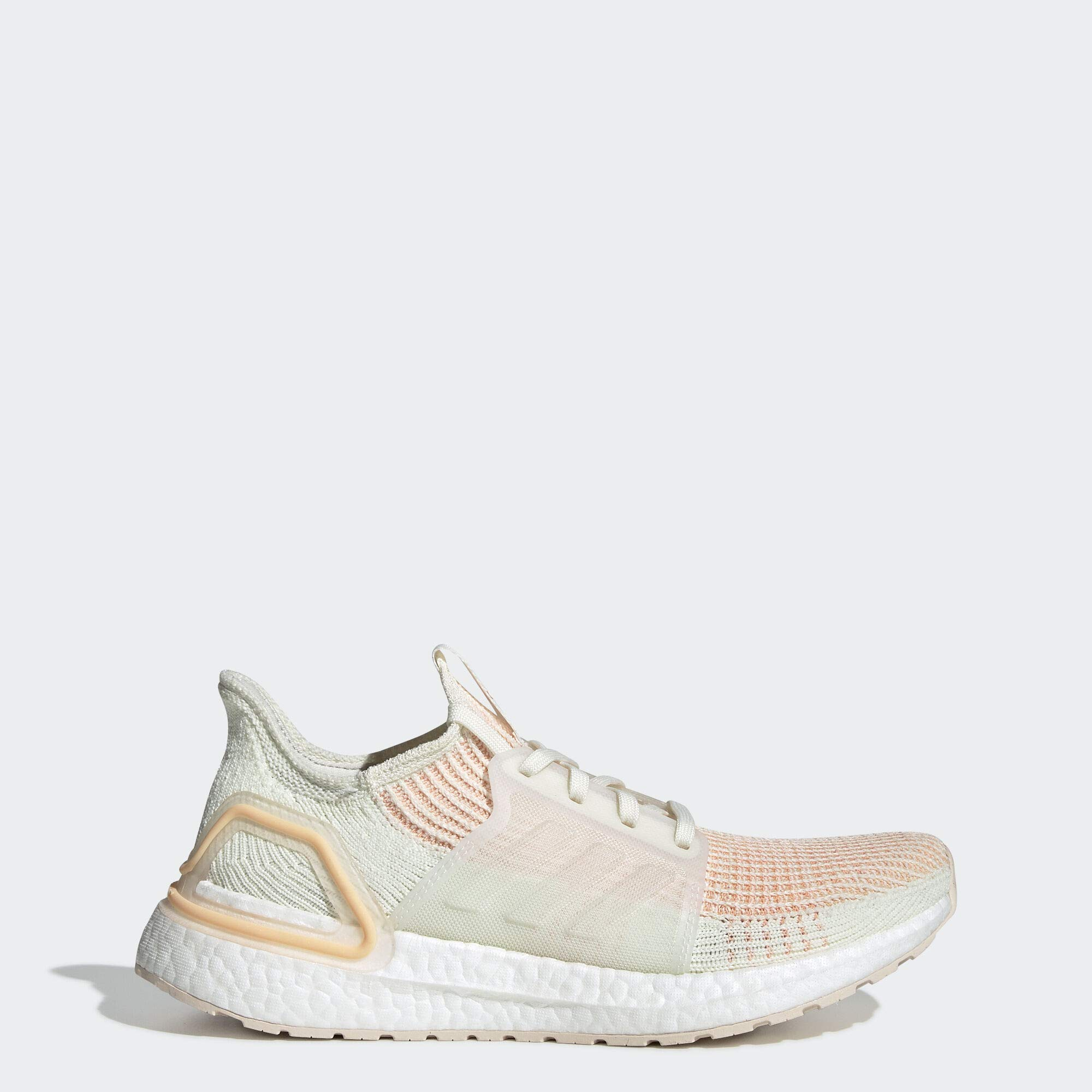 adidas Women's Ultraboost 19 Running Shoe, Off White/Glow Orange, 9 M US by adidas