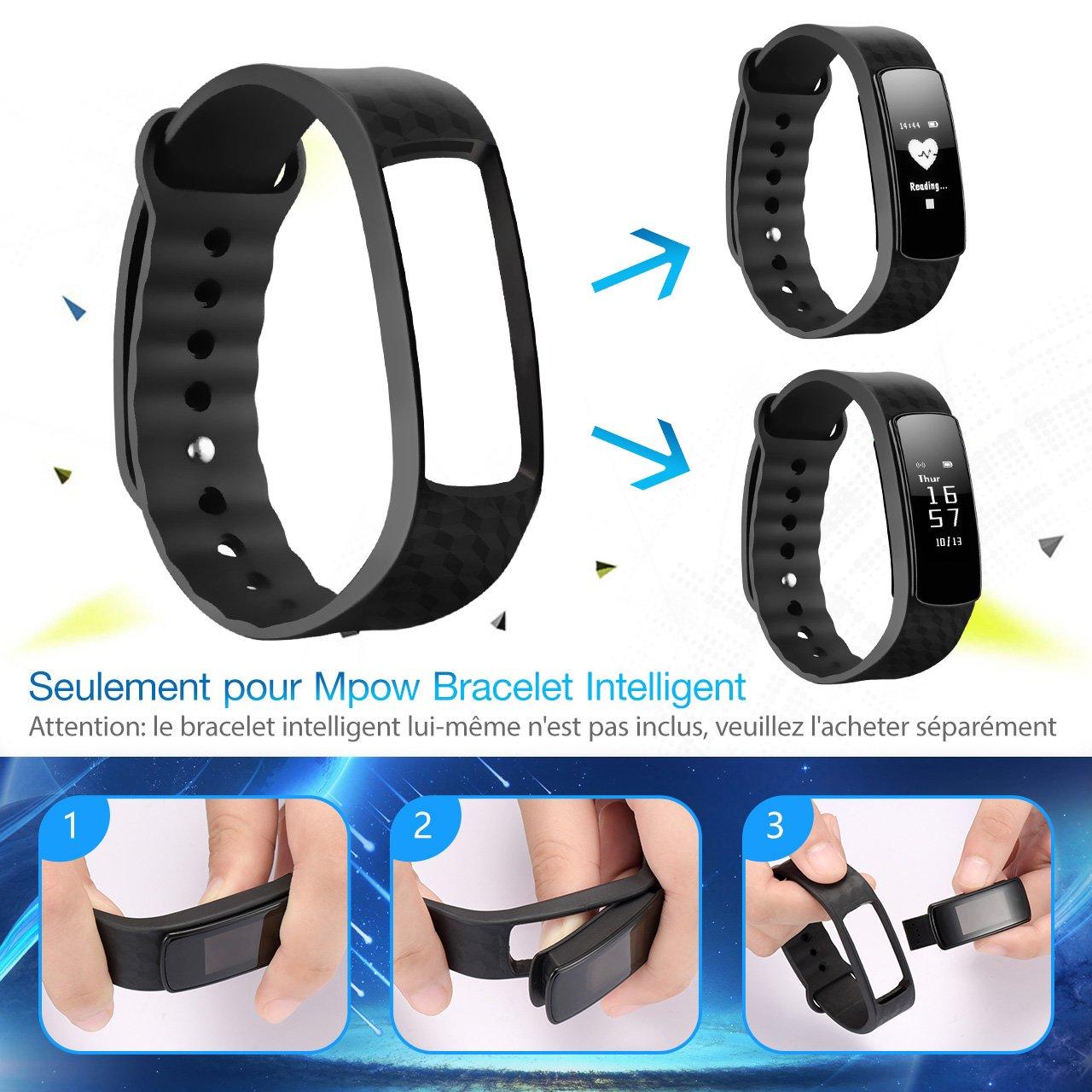 Pulsera Reemplazable micro-arc rectangular de Mpow reloj ...