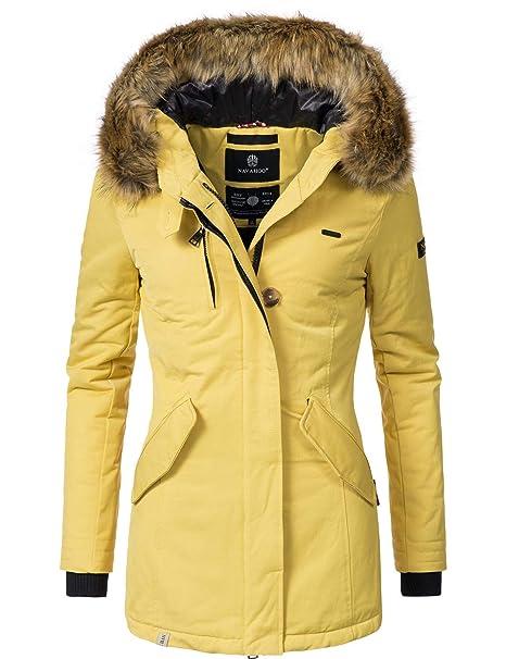 af1bf42295 Navahoo Nisam – Giacca, cappotto invernale da donna, disponibile in 10  colori, taglie XS-XXL