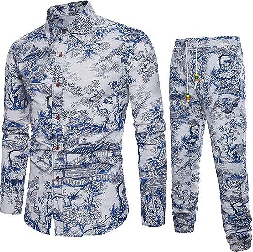Zoilmxmen Short Sleeve Shirts for Men Mens Spring Winter Fashion Printed Casual Slim Shirts Tops Blouse