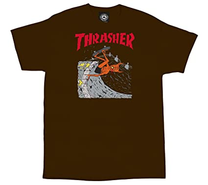 Thrasher Brown Neckface T-Shirt  Thrasher  Amazon.co.uk  Clothing 24c99d3063