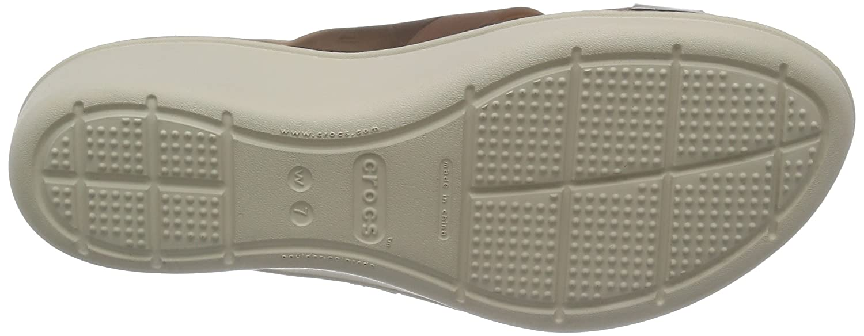 Crocs Women's Color Block W Wedge US Mahogany/Stucco Sandal B00LUOYPZG 9 B(M) US Mahogany/Stucco Wedge c581c2