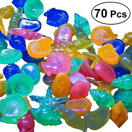 Pstars Garden Pebbles Glow Stones Rocks Luminous Pebbles for Walkways Outdoor Decor Aquarium Fish Tank Garden Decorative Stones for Path Lawn Yard Walkway Valentine 20-Pack