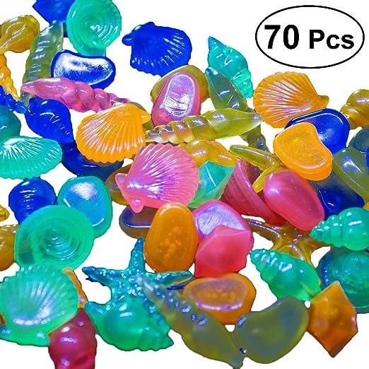 UKCOCO Piedras Luminosos de Colores Guijarros Coloridos Acuario Rocas Decorativas para Jardín de Pescado Tanque de Peces Florero Artesanía 70 Piezas: Amazon.es: Productos para mascotas