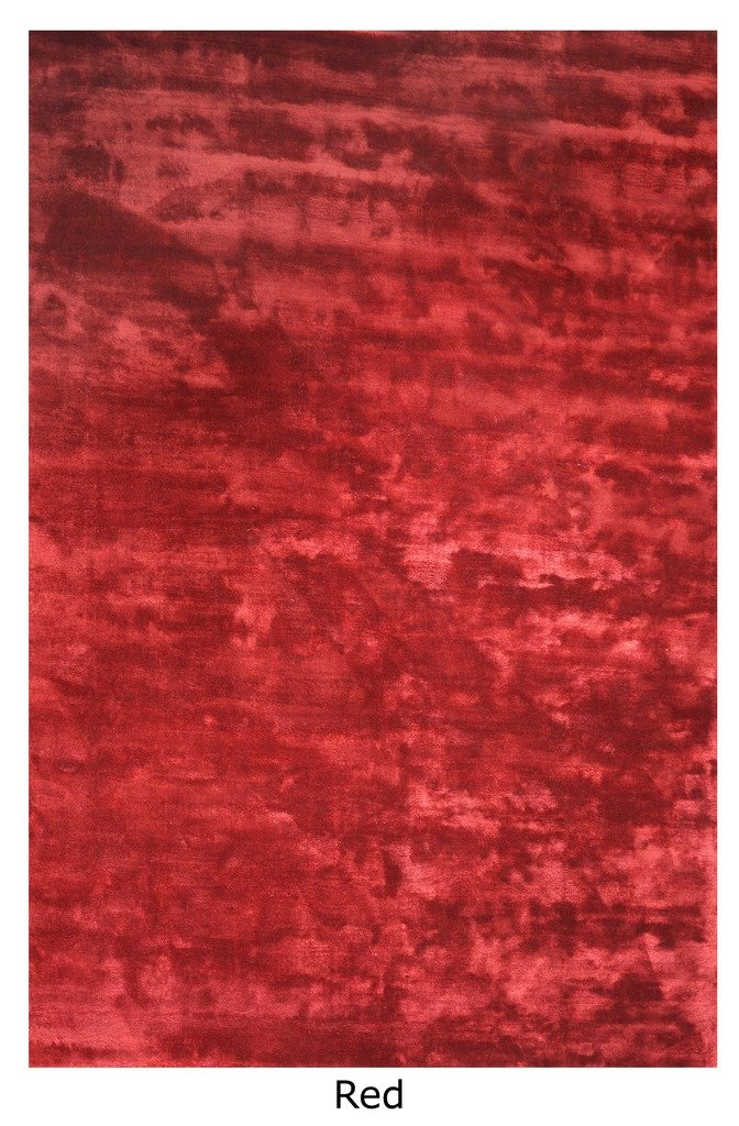"The Rug Republic ManoTejido Rojo Viscosa Aurum Alfombra (7' 6"" x 5' 3""), 1 Pieza"