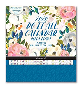 Orange Circle Studio 2020 Do It All Magnetic Wall Calendar, Bella Flora