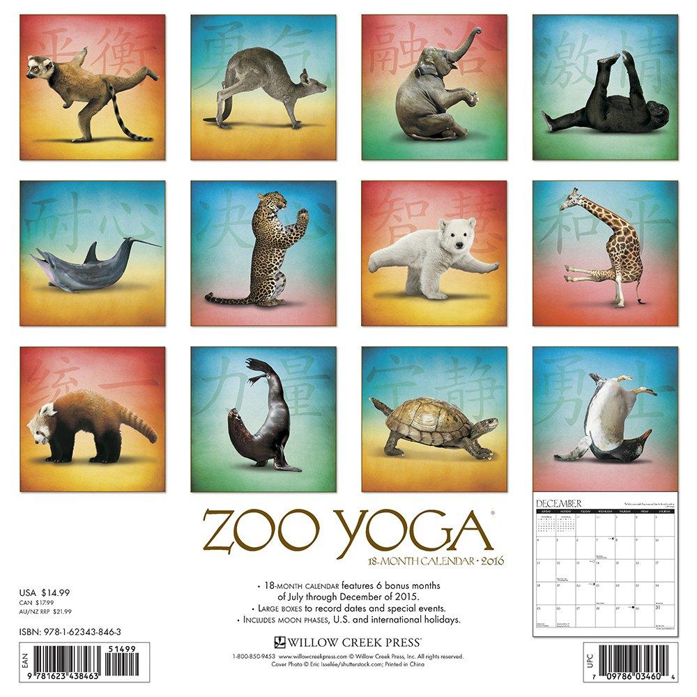 2016 Zoo Yoga Wall Calendar: Willow Creek Press ...