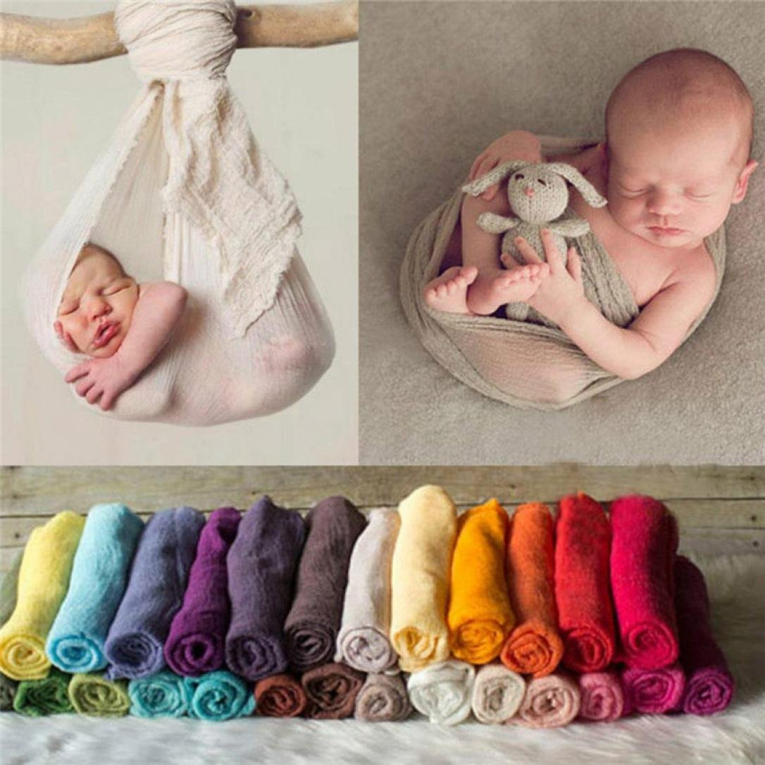 Sunbona Newborn Baby Boys Girls Organic Cotton Wrap Blanket Swaddle Muslin Cover For Photography Prop (Coffee)