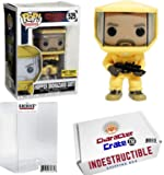 Funko Pop! Stranger Things Hopper Biohazard Suit, Hot Topic Exclusive, Concierge Collectors Bundle