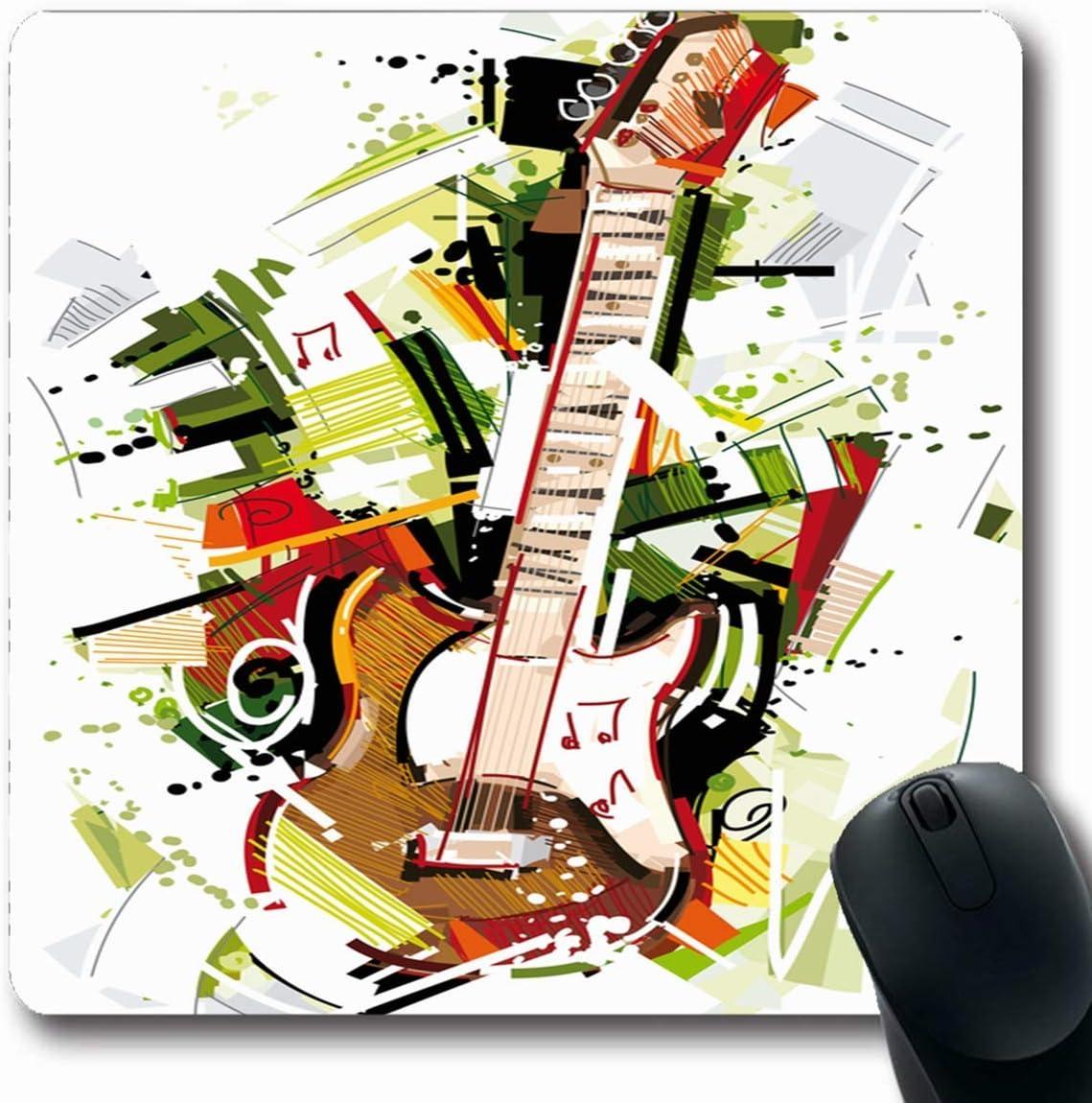 Luancrop Alfombra Obleada Nota Acuarela Banda Guitarra Eléctrica ...
