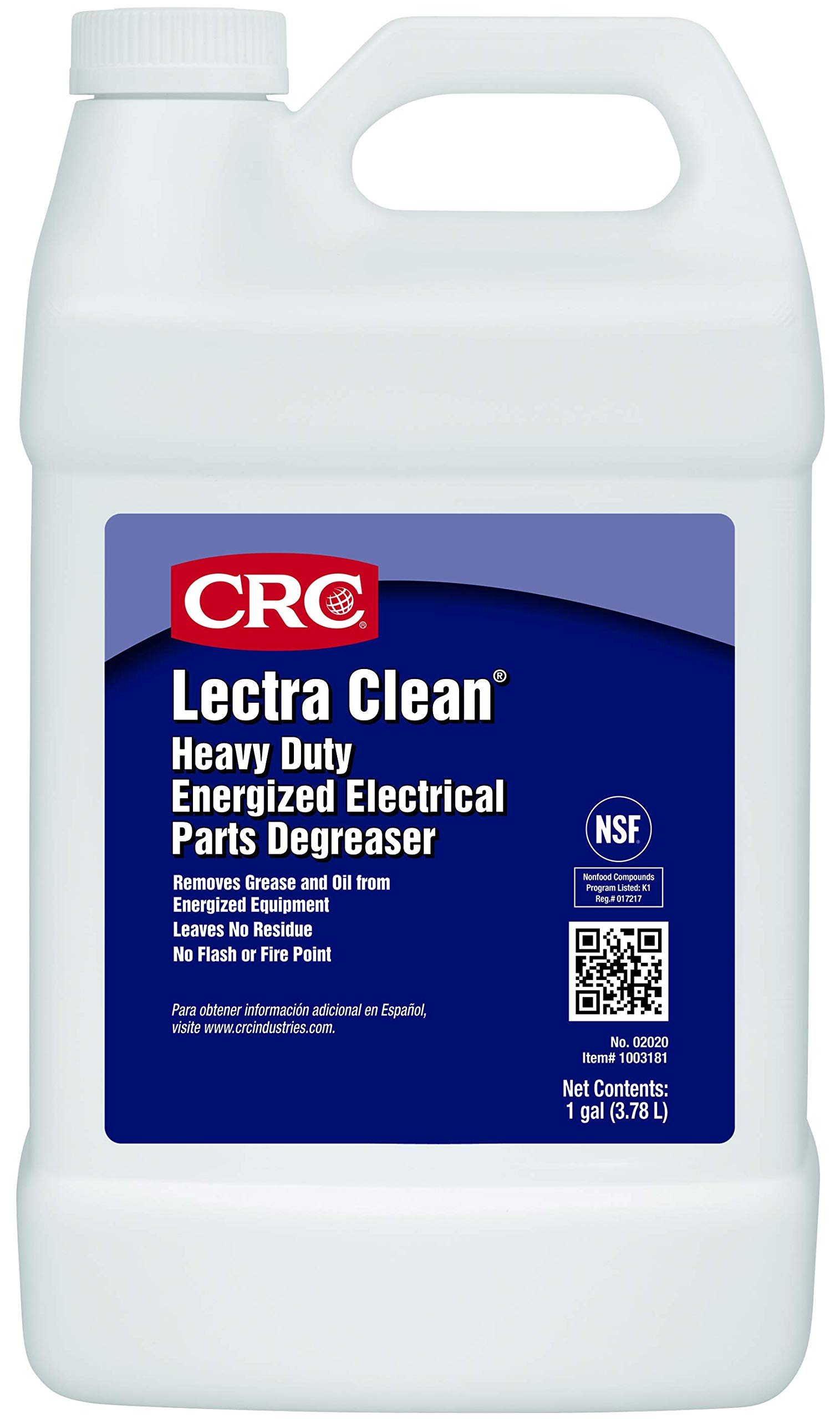 CRC Lectra Clean Heavy Duty Electrical Parts Liquid Degreaser, 1 Gallon Bottle, Clear
