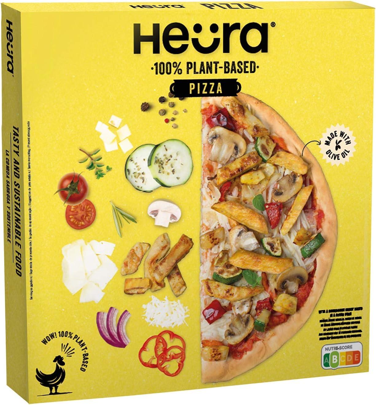 Heura Pizza Vegetal Congelada, 350g: Amazon.es: Alimentación ...