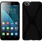 PhoneNatic Custodia Huawei Honor 4x Cover nero X-Style Honor 4x in silicone + pellicola protettiva