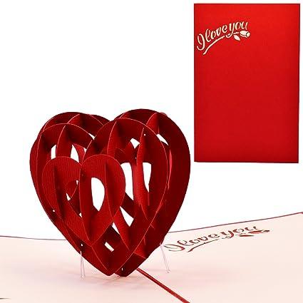 Yolopop handmade romantic anniversary gift greeting card for yolopop handmade romantic anniversary gift greeting card for boyfriend girlfriend love m4hsunfo
