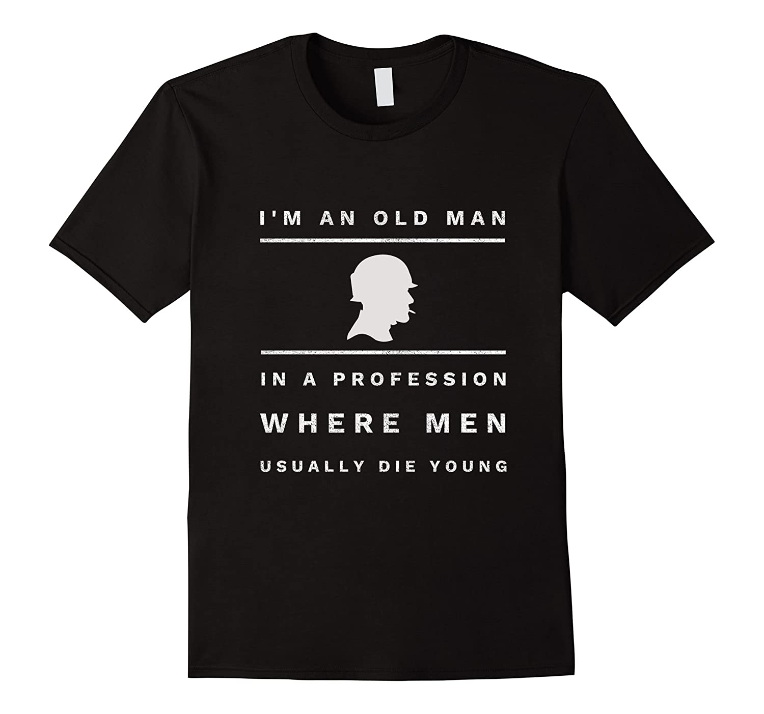 Mens I'm an old man in a profession we remember veterans t-shirt
