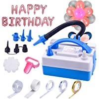 Joyjoz Balloon Pump, Electric Balloon Pump with Multipurpose Hose Extension, Portable Balloons Inflator with Nozzles for…
