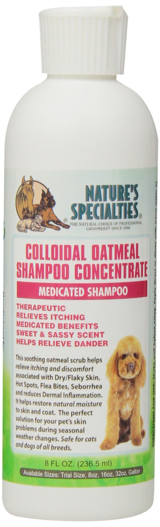 Nature's Specialties Colloidal Oatmeal Pet Shampoo, 8-Ounce