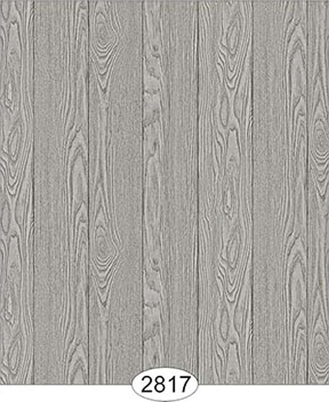 Dollhouse Wallpaper Vertical Distressed Wood Beige