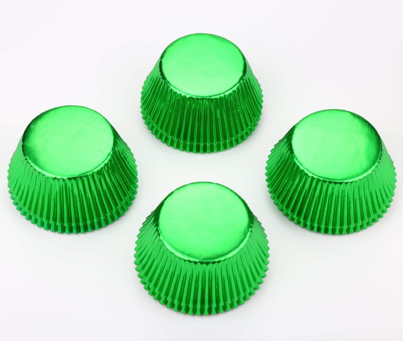 Gifbera Lot de 200/caissettes /à muffins en papier m/étallis/é de 3,25/cm de diam/ètre Vert