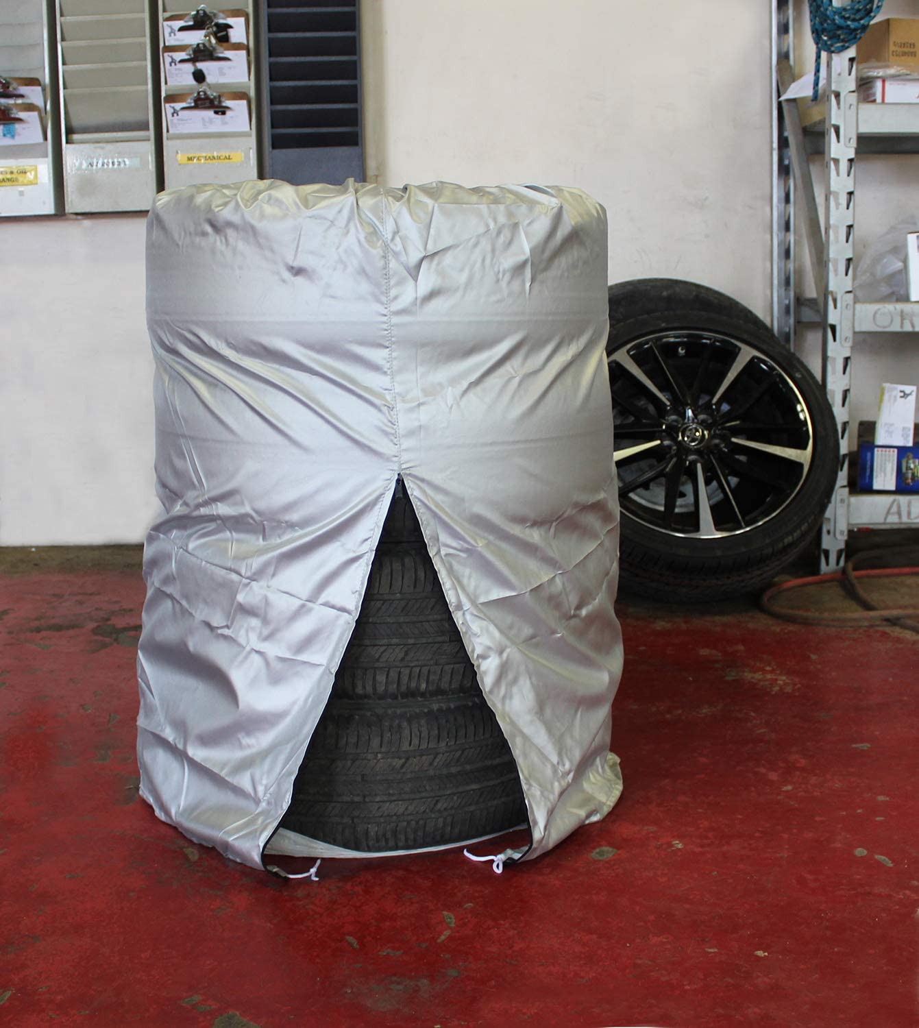 4 Tires Up to 25in Diameter Tire Storage Bag Seasonal Spare Snow Tire Bag Medium 25in x 38in ABN Car Tire Cover