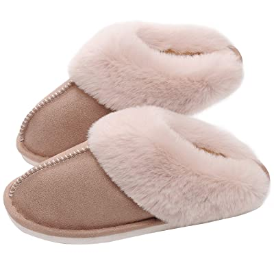 SOSUSHOE Womens Slippers Memory Foam Fluffy Fur Soft Slippers Warm House Shoes Indoor Outdoor Winter | Slippers
