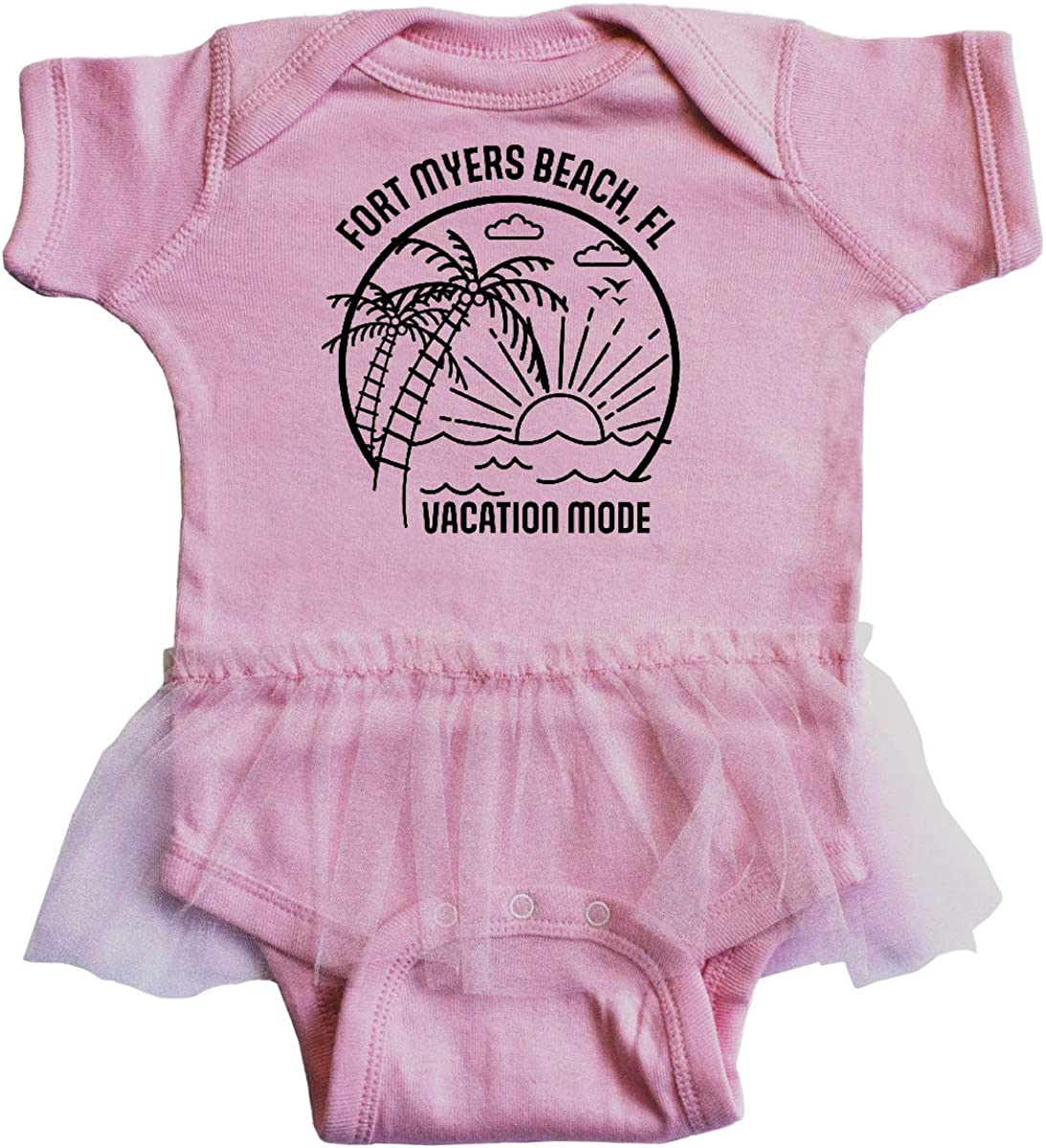 inktastic Summer Vacation Mode Fort Myers Beach Florida Infant Tutu Bodysuit