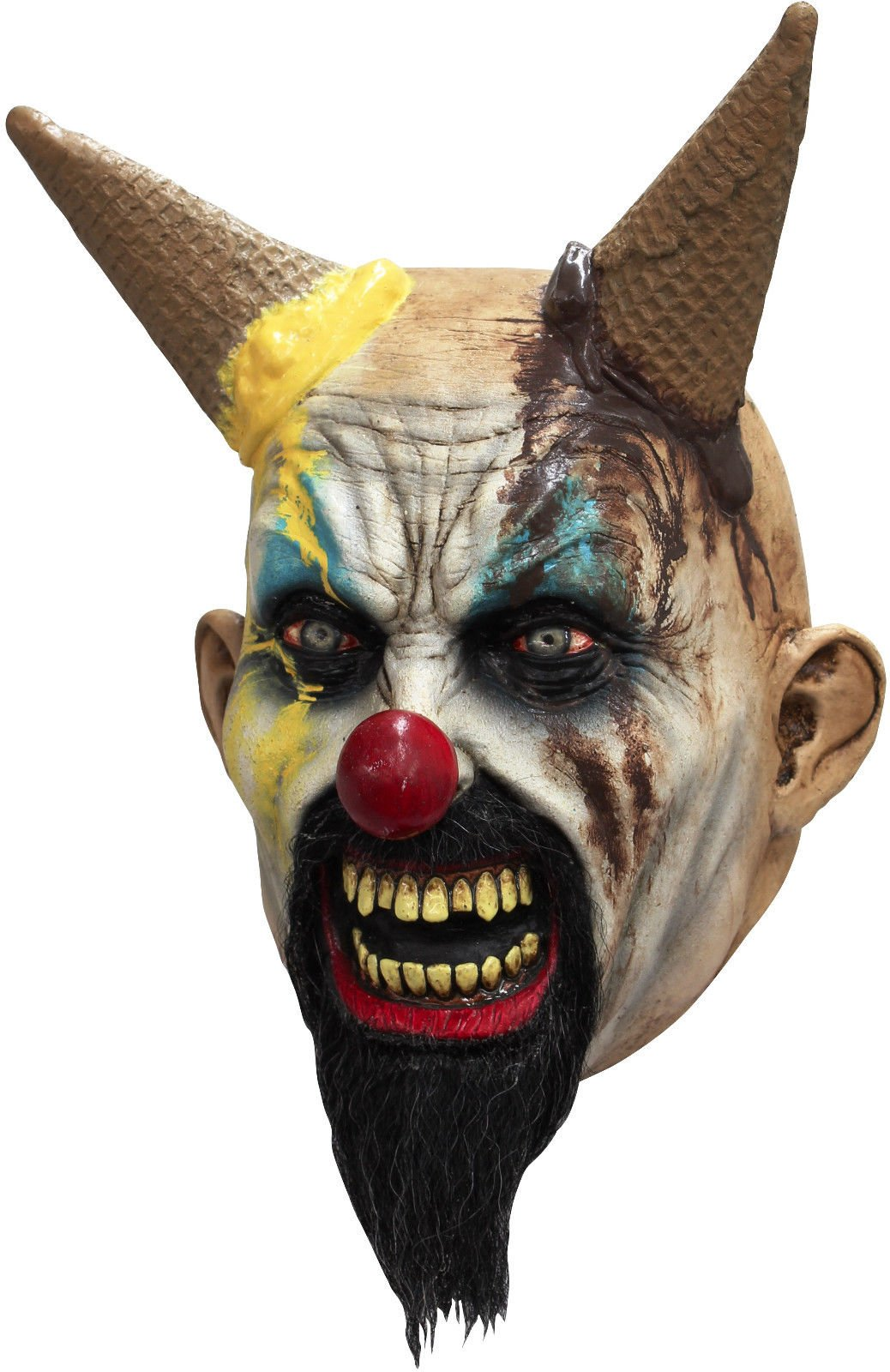 Ghoulish Productions Hells-cream the Clown Adult Latex Mask Evil Killer Klown Halloween