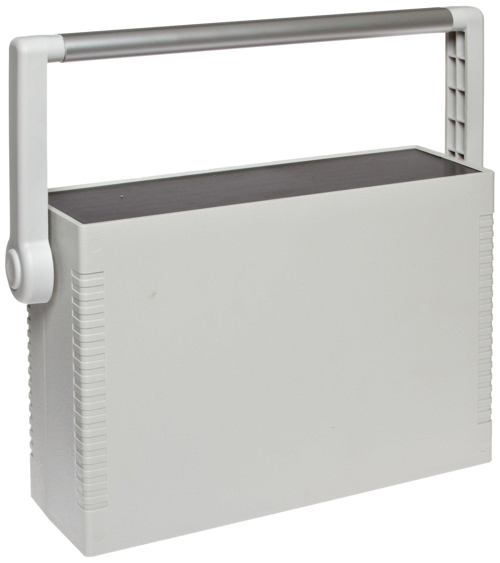 BUD Industries IP-6137 Plastic Instrument Case, 10-3/16'' Width x 3-11/32'' Height x 7-5/64'' Depth, Gray Finish