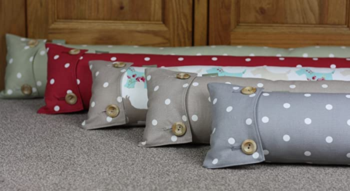 Draught Excluder Draft Stopper (90cm). Shabby Chic Fabric. Spotty ...