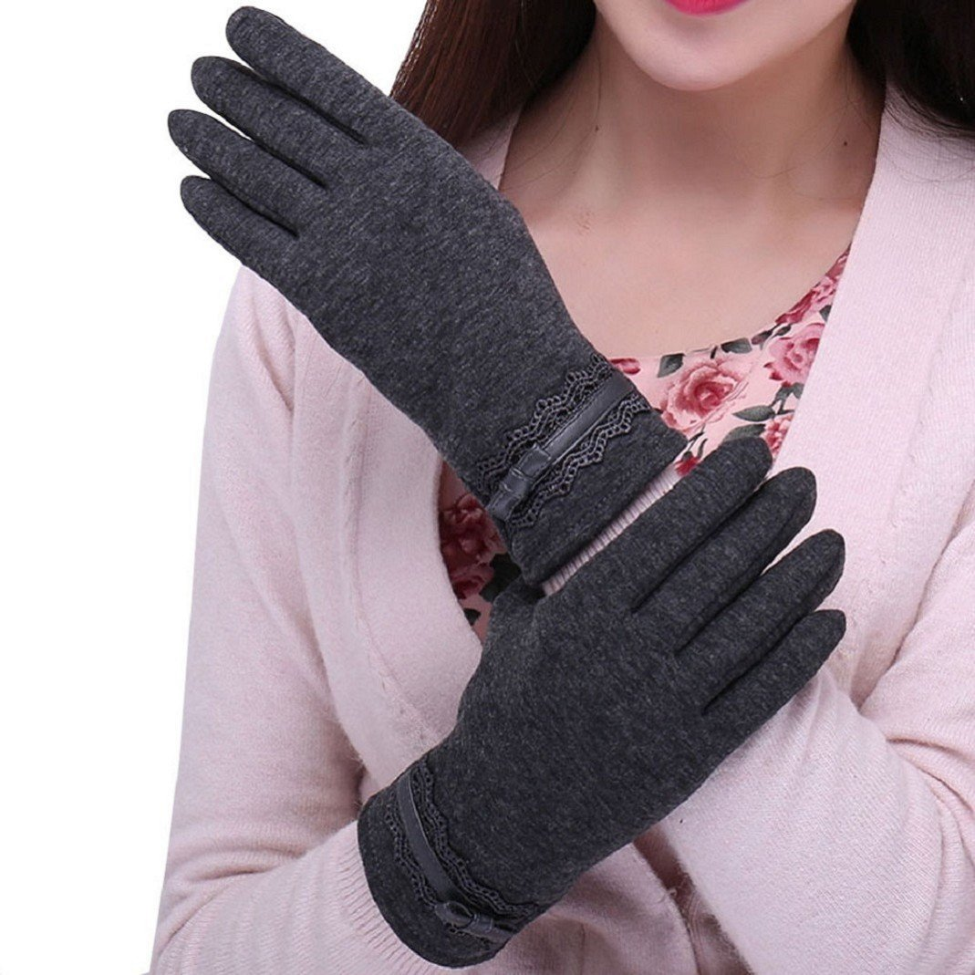 Amcool Touch Screen Handschuhe, Winter Warm Cool Luxus Sport im Freien Handschuhe … (Schwarz) Amcool03