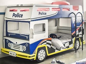 Etagenbett Bus : Etagenbett kinderbett hochbett doppeldecker motivbett autobett