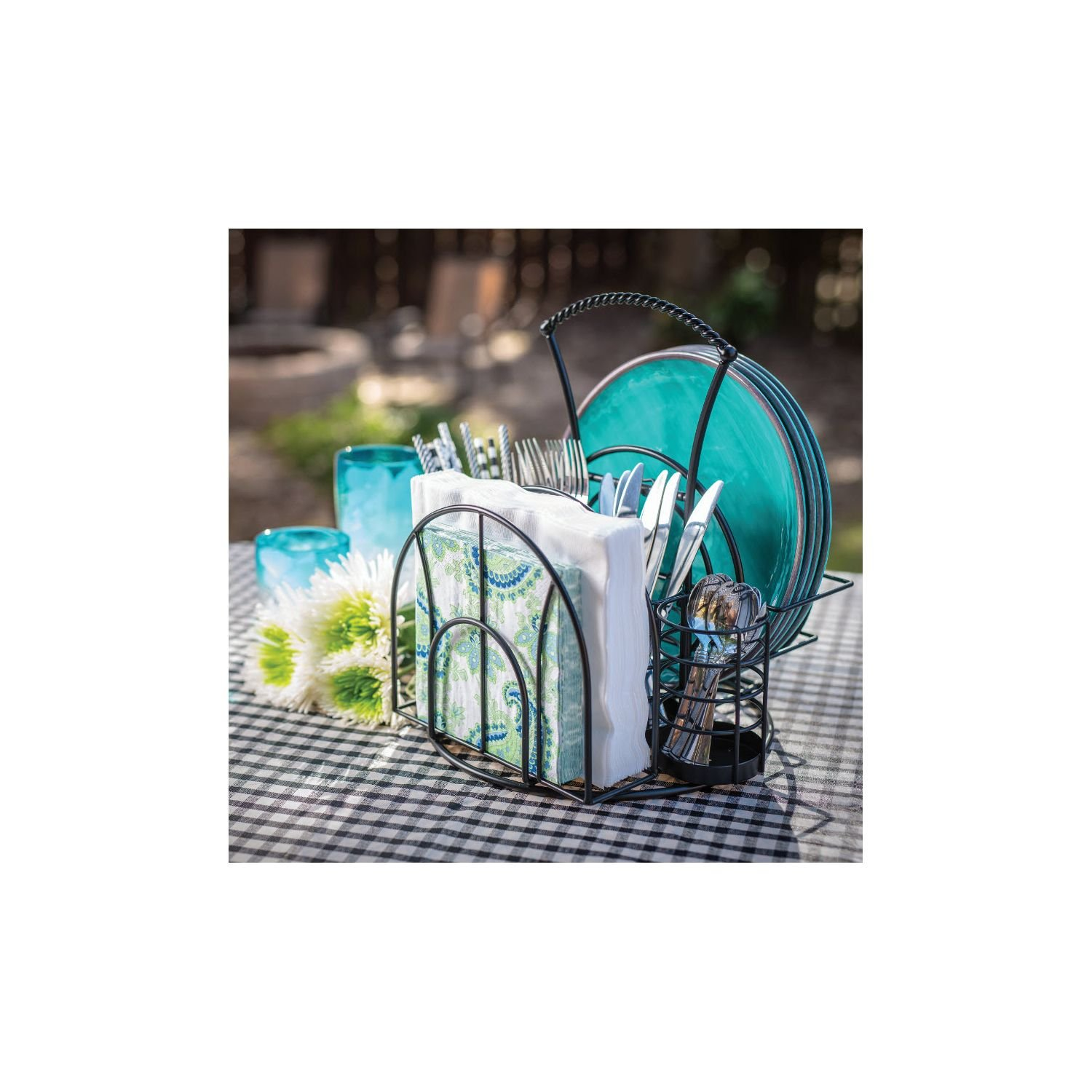 Giftburg Picnic Caddy, 3-Piece Set