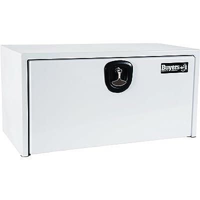 Buyers Products White Steel Underbody Truck Box w/ 3-Point Latch (18x18x24 Inch): Automotive