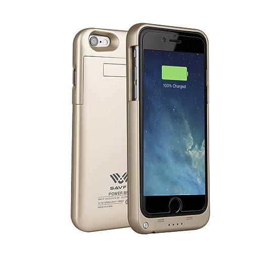 100 opinioni per SAVFY 3200mAh Custodia Cover Protettiva con Batteria Esterna per iPhone 6/6s,