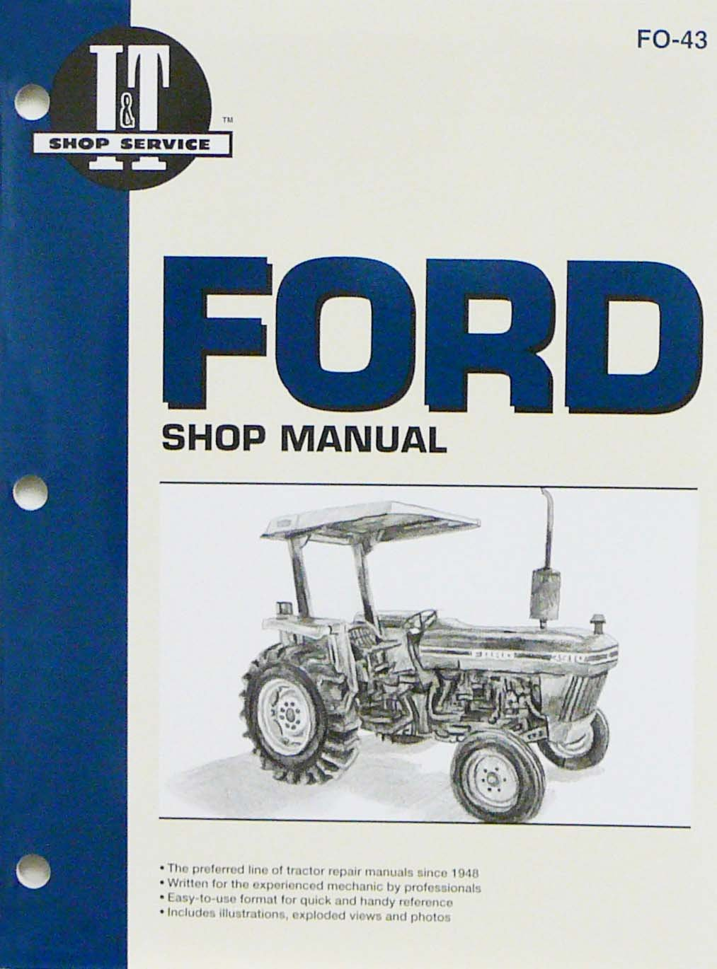 Sparex FO43 - I&T Ford Tractor Service/Repair Manual - 2810 2910 3910:  Agricultural Machinery Accessories: Amazon.com: Industrial & Scientific