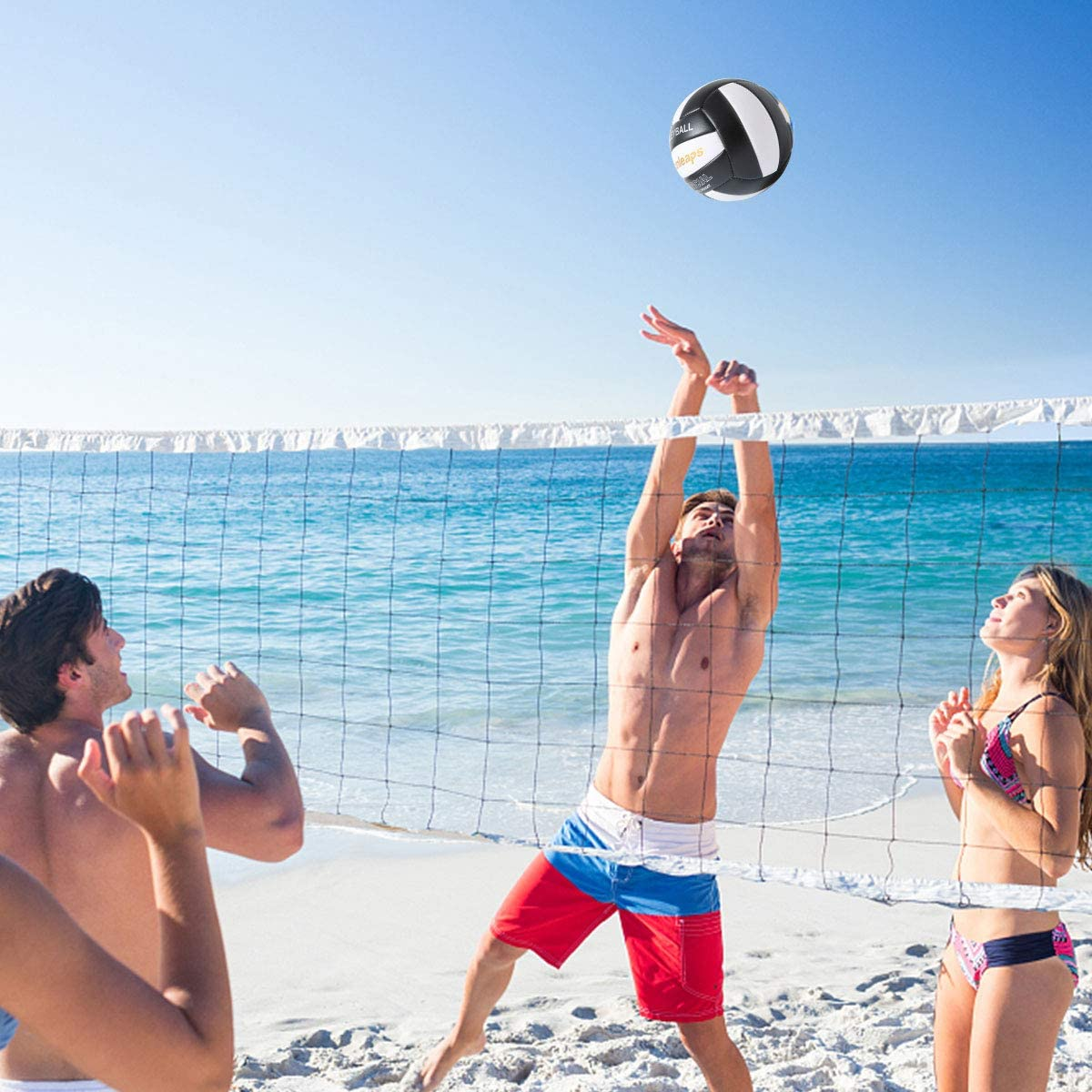 Runleaps Volleyball, Waterproof Indoor Outdoor Volleyball for Beach Game Gym Training