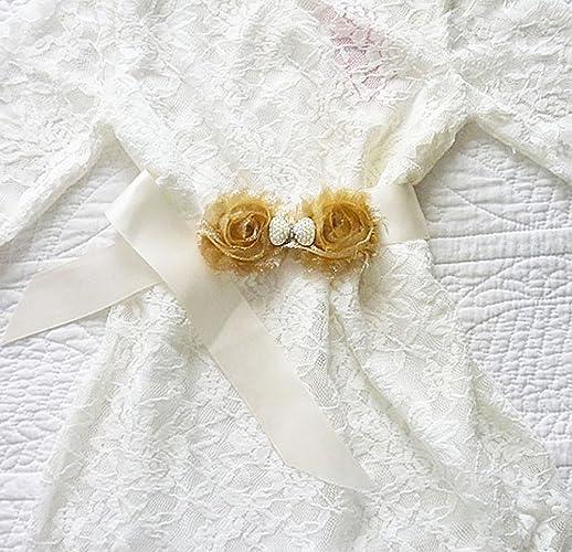 5f1b2f1af0b Amazon.com  Girl s Satin Ribbon Sash Belt