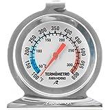 Redlemon Termómetro para Horno de Cocina Fabricado en Acero Inoxidable, Lectura Precisa, Temperatura en Grados Fahrenheit y C