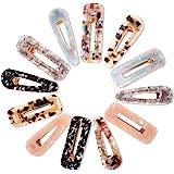 Cridoz 12 Pcs Acrylic Resin Hair Barrettes Hair Clips for Women Hair Accessories