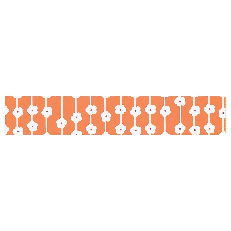 KESS InHouse Heidi Jennings Orange You Cute Tangerine White Table Runner 16 x 180