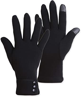 Womens TOUCH SCREEN GLOVES Mens Wooly Winter Touchscreen Smart Compatible Glove