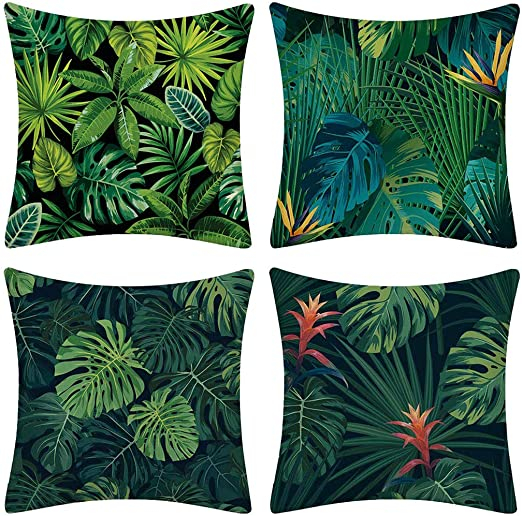 tropical home decor items amazon com xisheep home decor items  cushion cover 4pc tropical  cushion cover 4pc tropical
